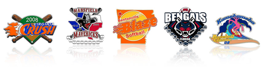 softball trading pins